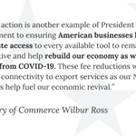 Image for the Tweet beginning: #NEWS: Commerce @SecretaryRoss announced today