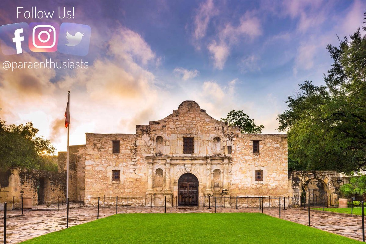 The Alamo, San Antonio  Thousands of men were killed in the siege of 1836, so it's no wonder a few #spirits are angry. Guards reported hearing footsteps & a spotting a small boy & John Wayne in the gift shop reciting lines from his 1960 film on the subject. pic.twitter.com/VZmM0XSlVK