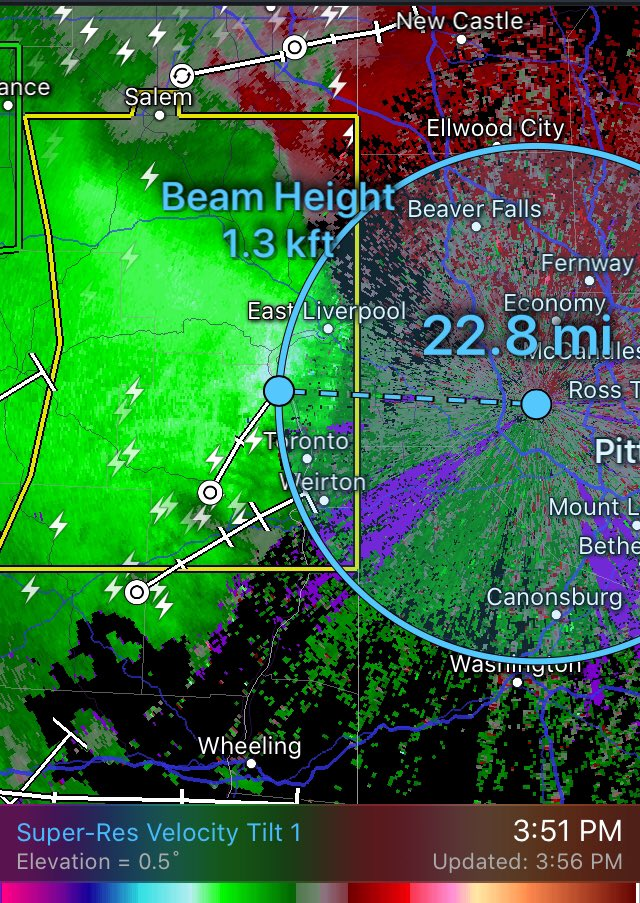 Pittsburgh, take cover now! Radar is indicating winds near 70mph only 1,300 feet aloft! <br>http://pic.twitter.com/98ppAjOhiw