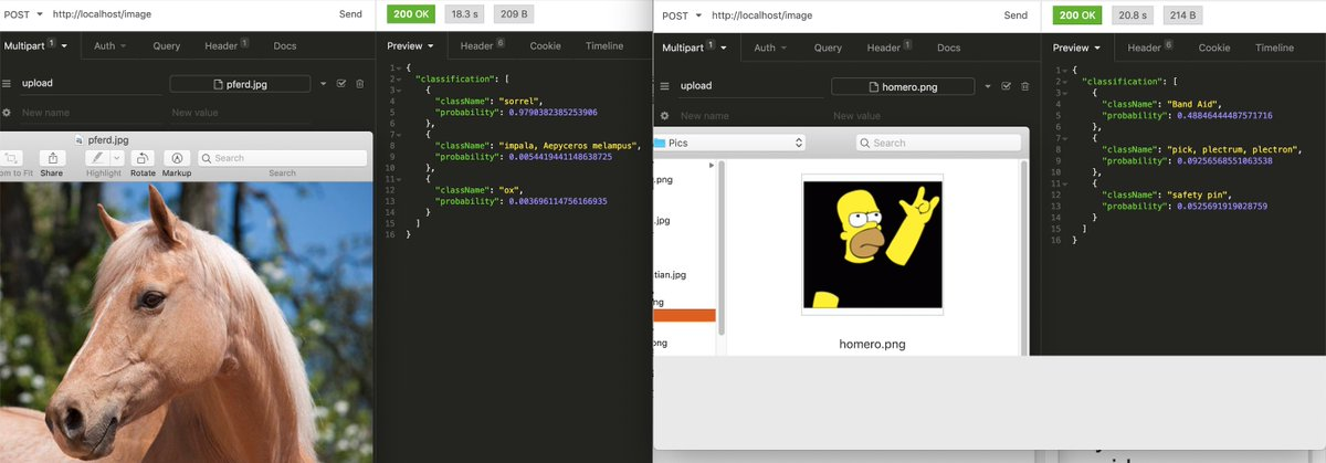 test Twitter Media - my first experiences with #TensorFlow API, well trained with horses but lacks basic knowledge of the #Simpsons 👀 ... though there are good examples for  #NeuralNetworks predicting characters with high accuracy https://t.co/Q2GtaNtspO   #ai #MachineLearning https://t.co/Coubj1lThw