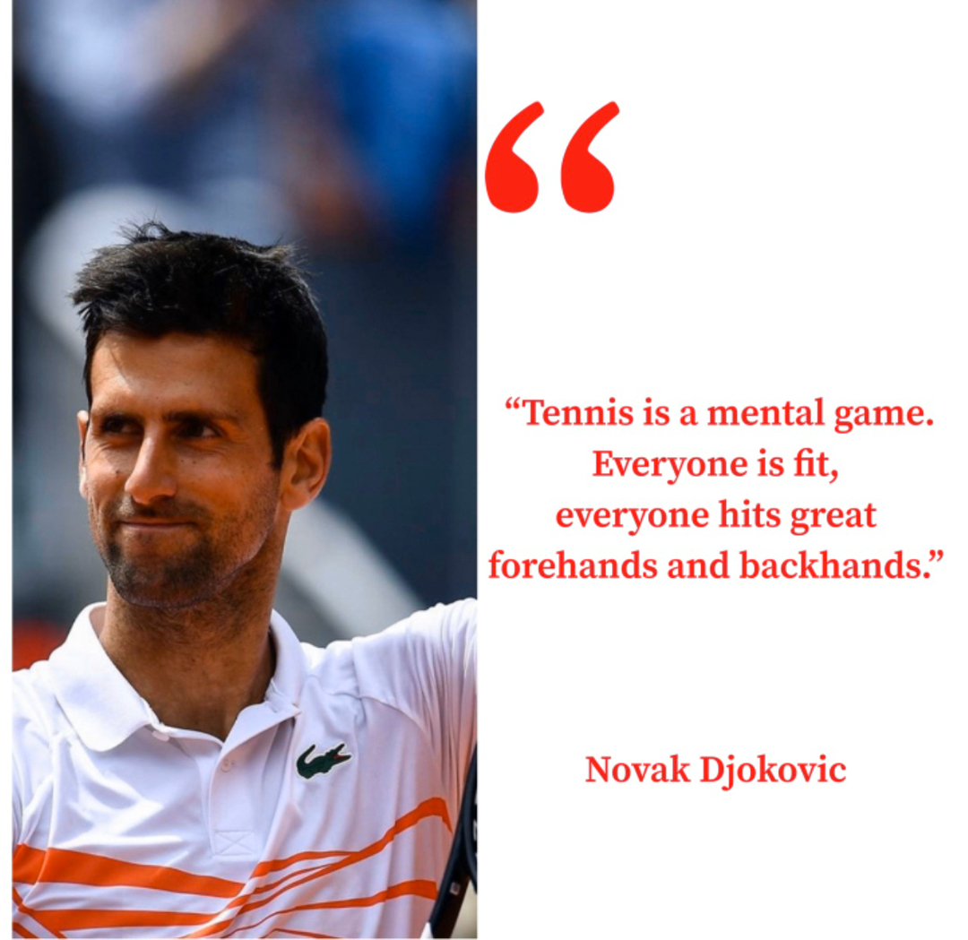 """Tennis is a mental game. Everyone is fit, everyone hits great forehands and backhands.""   Novak Djokovic   #tennis #tenis #tennishaus #serve #volley #forehand #backhand #overhead #tennislife #tennis#tennislessons #tennisaddict #tenniscoaching #tennisvideos #rogerfedepic.twitter.com/MUqSr1LCgM"