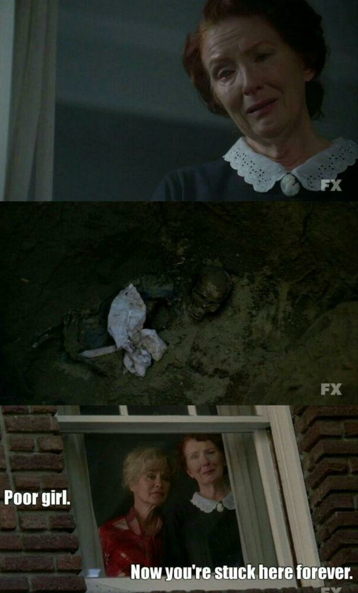 Damn. Did not see that coming, solid, poor Moira.  SYLAR FROM HEROES IS HERE HELLO. #americanhorrorstory <br>http://pic.twitter.com/xWn4HEYXVF