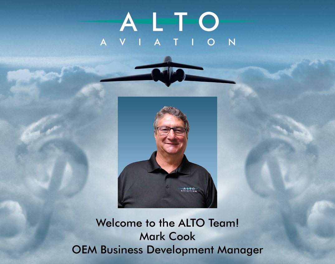 We are happy to welcome Mark Cook as @ALTOaviation1 new OEM Business Development Manager. Mark brings extensive experience & proven success in multiple executive leadership roles in #businessaviation Welcome to the #ALTOTeam, Mark! #bizav #bizjet #mro #nbaa  #ALTOSound #aircraft https://t.co/tUeY1NR4o0