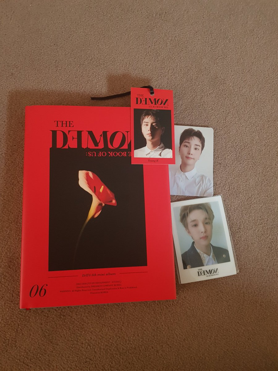 Day6 - The book of us: The Demon, Young K pc, 2 posters and book thingy, Jae shifting pc <br>http://pic.twitter.com/bNhzphGFqs