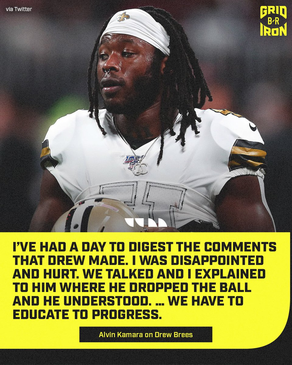 Alvin Kamara speaks on his convo with Brees.