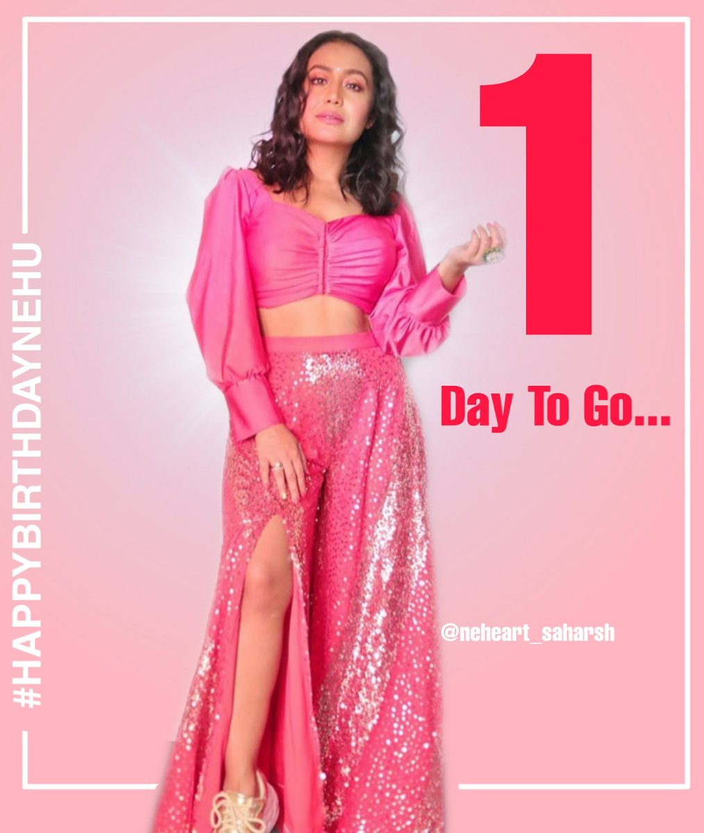 The Excitement has Crossed All The Levels cause only 1 Days Left For  Your Birthday . Cant Wait #happybirthdaynehu @iAmNehaKakkar #NehaKakkar . . . . #nehakakkarlove #nehudiaries #nehakakkarfc #nehakakkarfansclub #nehakakkarfanfollowing #nehakakkarfanforever pic.twitter.com/L240ovGUSu