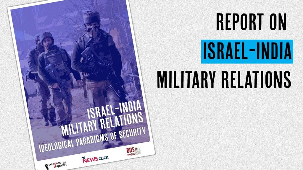 India buys 50% of Israel's arms exports. Arms sales finance Israeli occupation & apartheid, and India-Israel military collaboration fuels militarization in Kashmir & elsewhere, creating a logic of 'perpetual insecurity.' #MilitaryEmbargo on 'Israel'. #Act4Palestine<br>http://pic.twitter.com/p3HcC1cKnH