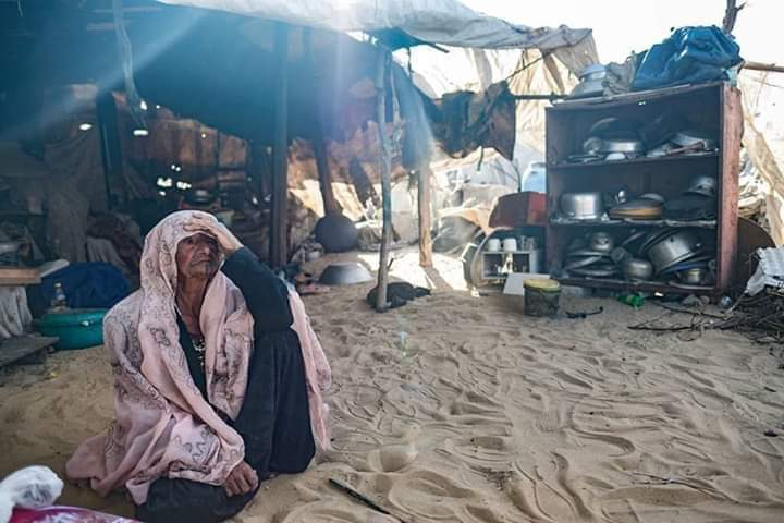 While many people are living a modern life with all technologies around, Um Salem from #Gaza still lives the same traditional lifestyle her family was living in their original hometown, Beersheba.  #Act4Palestine<br>http://pic.twitter.com/rbukcIWfdU