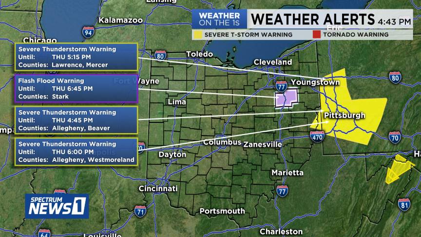 WEATHER ALERT: Severe Warnings have been issued in or approaching Ohio. Here is the latest information. Check  http:// SpectrumNews1.com     for the latest updates and RADAR information. INTERACTIVE RADAR LINK:  https:// spectrumnews1.com/oh/columbus/we ather/radar  …  #OHwx<br>http://pic.twitter.com/v8I3EKldyQ