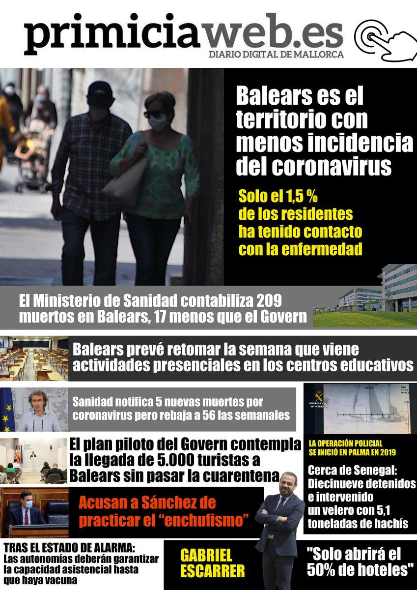 ▶️Noticias que debes conocer antes de que acabe el día ▶️https://t.co/cJpiPiU55M #Palma #Mallorca #Balears https://t.co/haicEmSILl