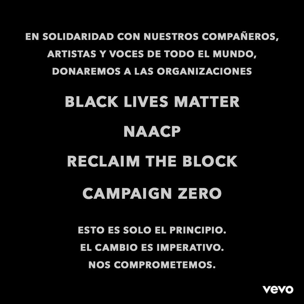 Siendo parte de una industria basada en la creatividad artística de personas Negras, tenemos la obligación de tomar las medidas necesarias y continuas para acabar con el racismo sistémico.