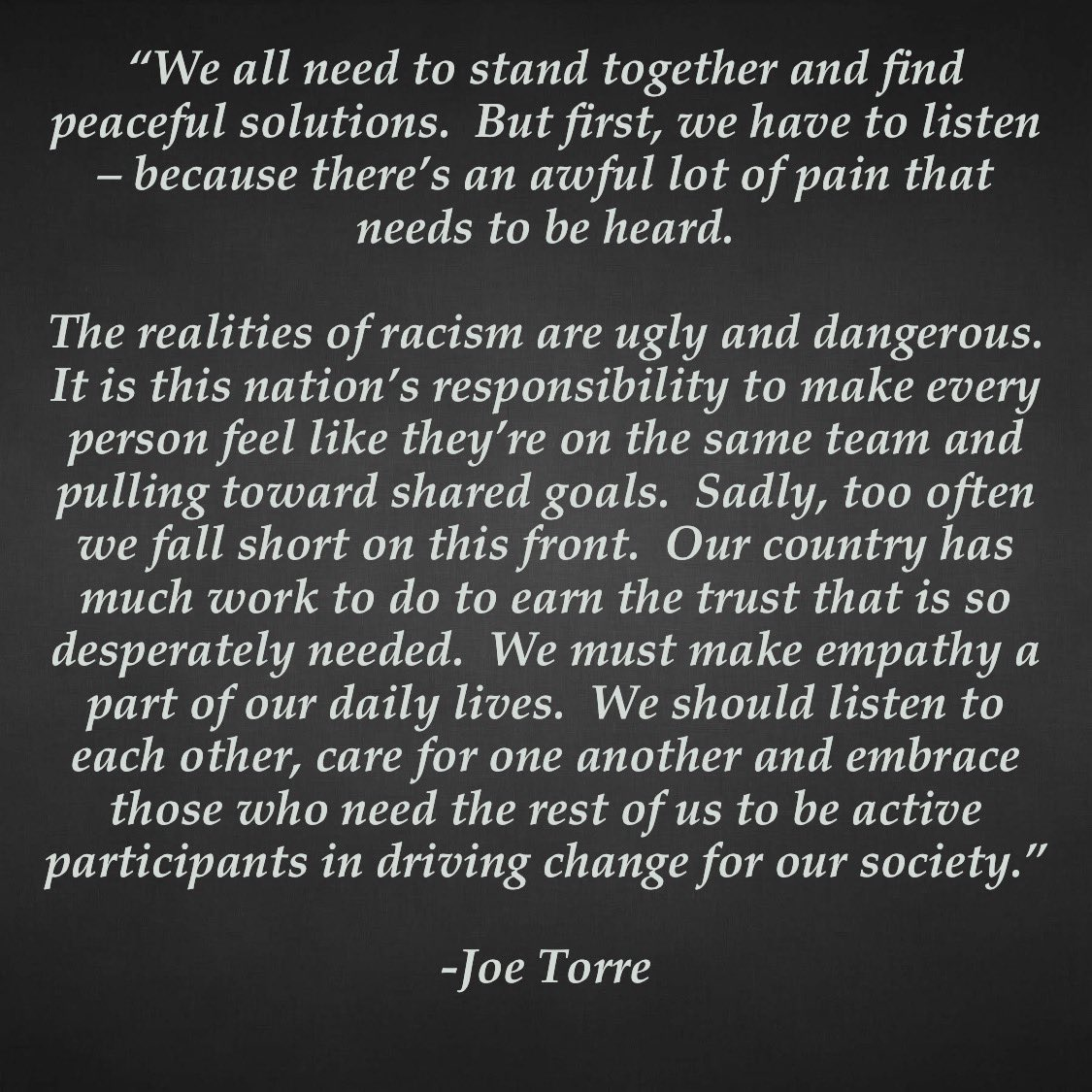 Joe Torre (@JoeTorre) on Twitter photo 2020-06-04 20:58:30