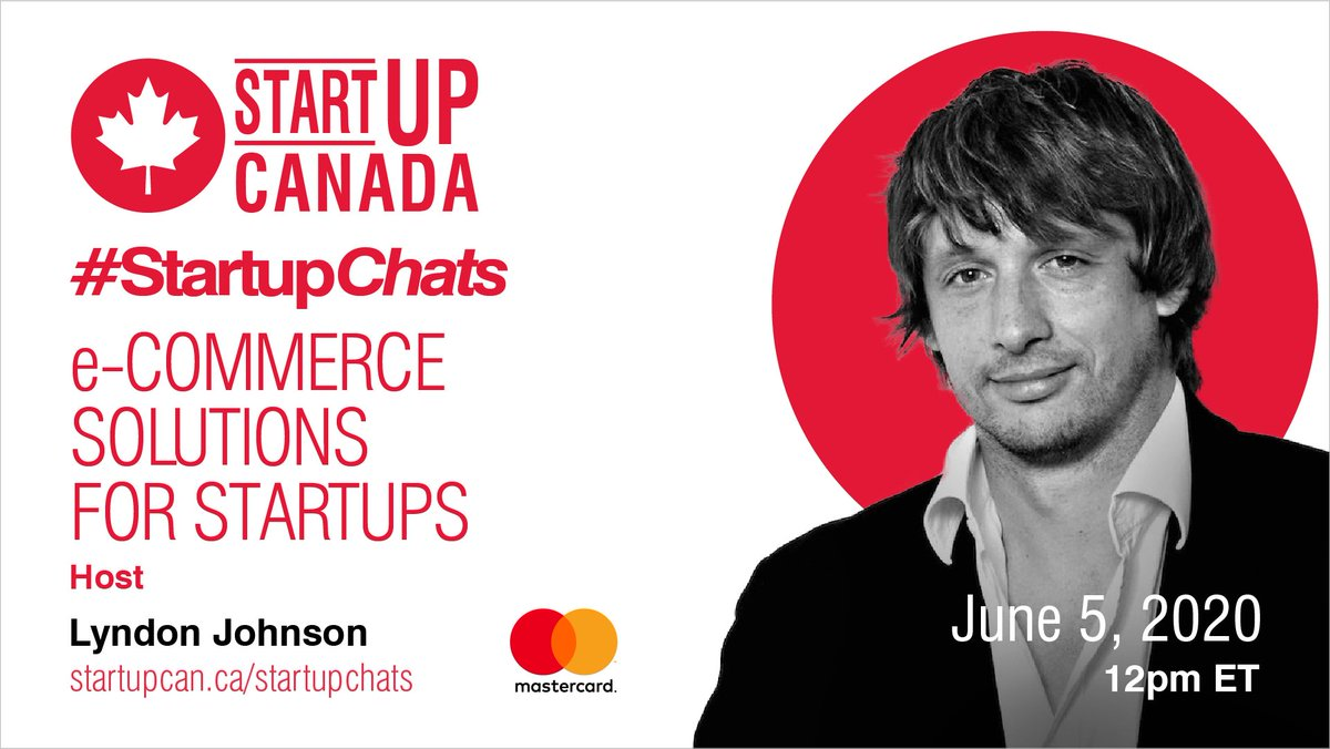 Attention tomorrow's #StartupChats participants – tomorrow's talk on 'e-Commerce Solutions for Startups' with @MastercardCA goes live at 12 pm ET! @vertamarketinginc @donvo @Chriscenteno @myavotea @florianvillaume @Krippit1 @asifmoh37298501 @sohalavi @Maya97004487 @itssaran https://t.co/KhNPgyBrAm