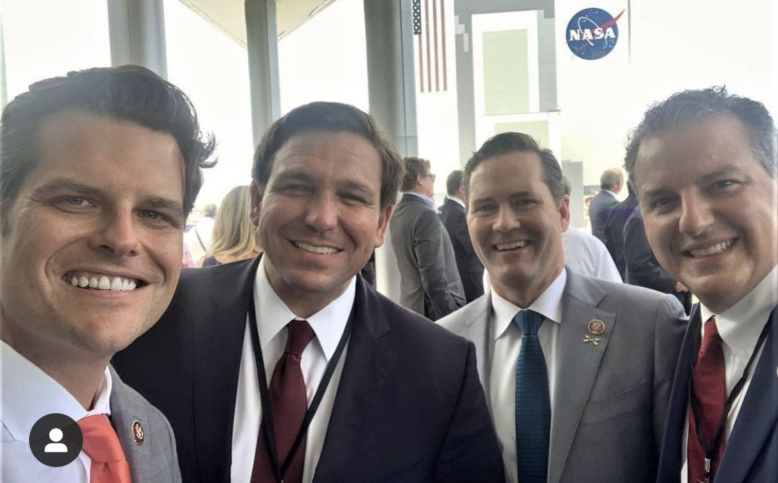 Matt Gaetz can not resist posting pictures of himself. What do you see?