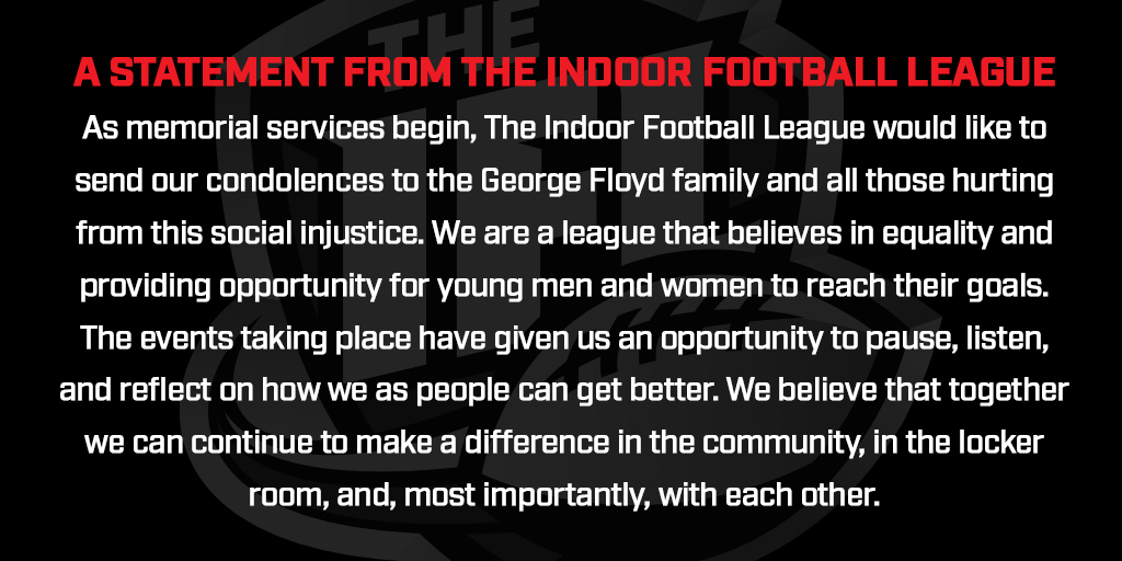 A Statement from the Indoor Football League https://t.co/PqZPuaWrkw