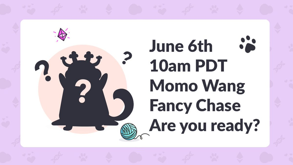 Quick heads up- the second @CryptoKitties Artist Collaboration / Momo Wang Fancy Chase will take place this Saturday at 10am PDT - see you there! twitch.tv/Rudem00se