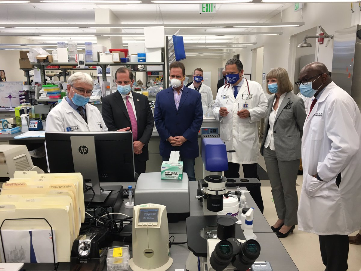 We visited a lab at @RoswellPark and heard about the work they're doing on potential treatments and clinical trials, including research on treatments to help cancer patients.