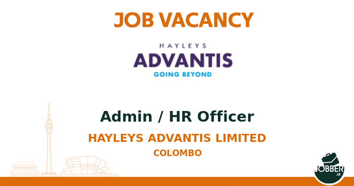 Job vacancy Admin / HR Officer from Hayleys Advantis Limited. To Apply : https://t.co/OeuEqiJAo4 . #jobsInSriLanka #sriLanka #sriLankan https://t.co/fhZs14YmNY