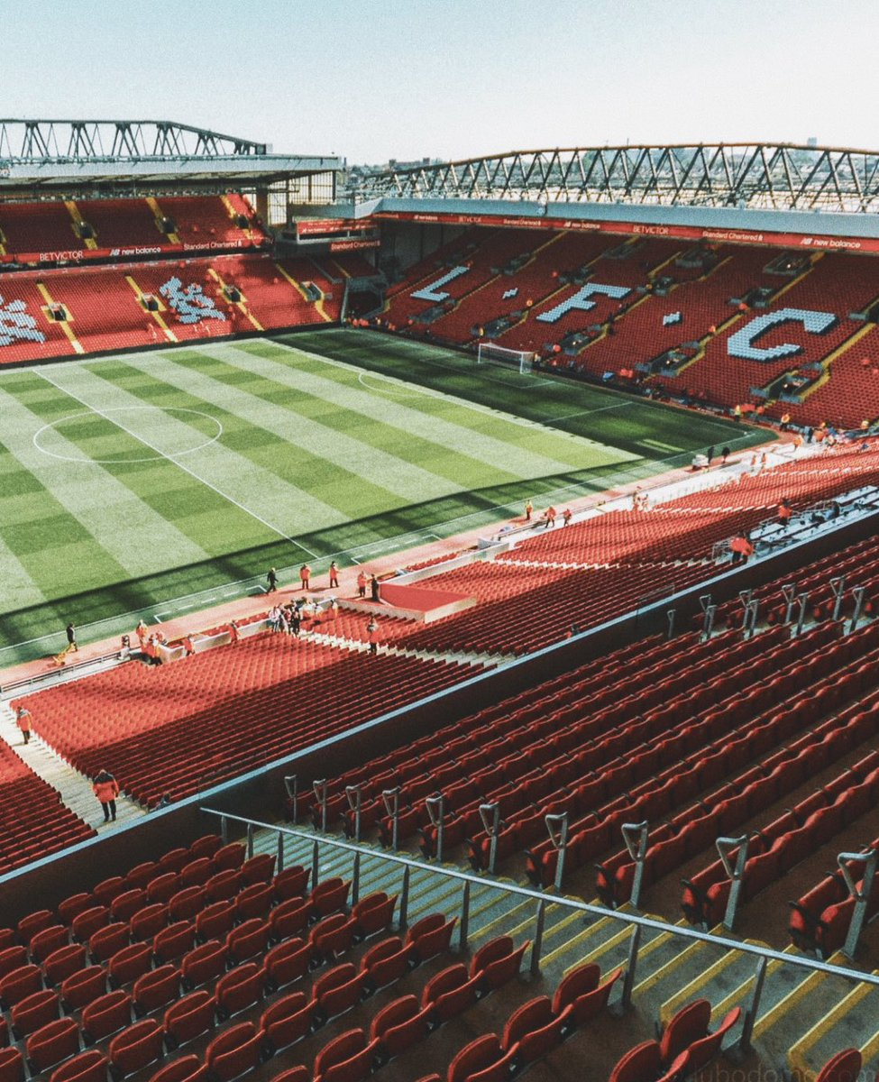 Anfield is ready 🏟 (📸: @lubodomo)