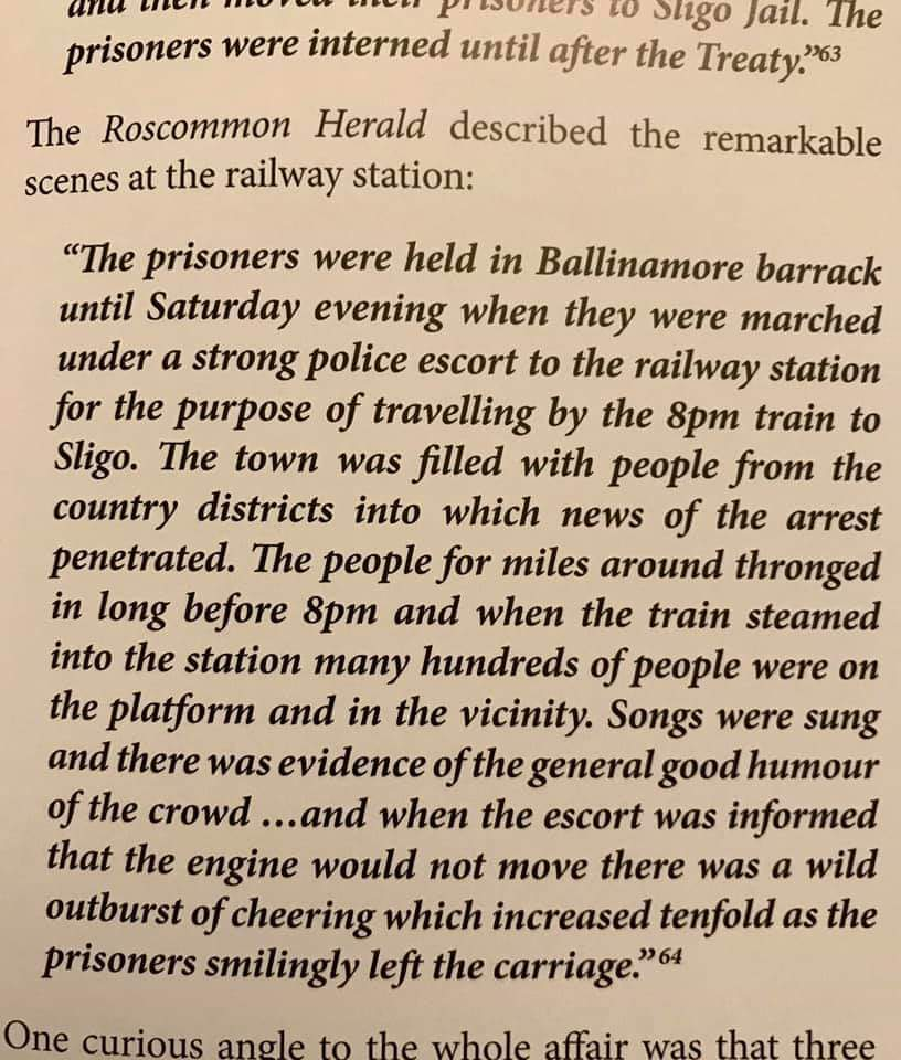 A little bit of history 😊 100 years ago, my Great Grandad, John Gaffney, an IRA Volunteer and a train driver from Ballinamore, Co. Leitrim, refused to drive four IRA volunteers to Sligo Jail for the RIC. He was interned for his actions.