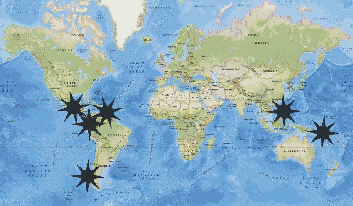 Buenas Tardes #RiskMap prevencion Sismica a paises destacados: 🔴Ecuador EQ=97% #Alert  🔴Guatemala Border El Salvador EQ=97% 🔴Chile(Zona Sur)EQ=96% #Alert  🔴Islas Salomon EQ=96% 🔴Filipinas EQ=96% #Alert  🔴Venezuela(Zona Central)EQ=84% https://t.co/MUUh0Wf4Kx