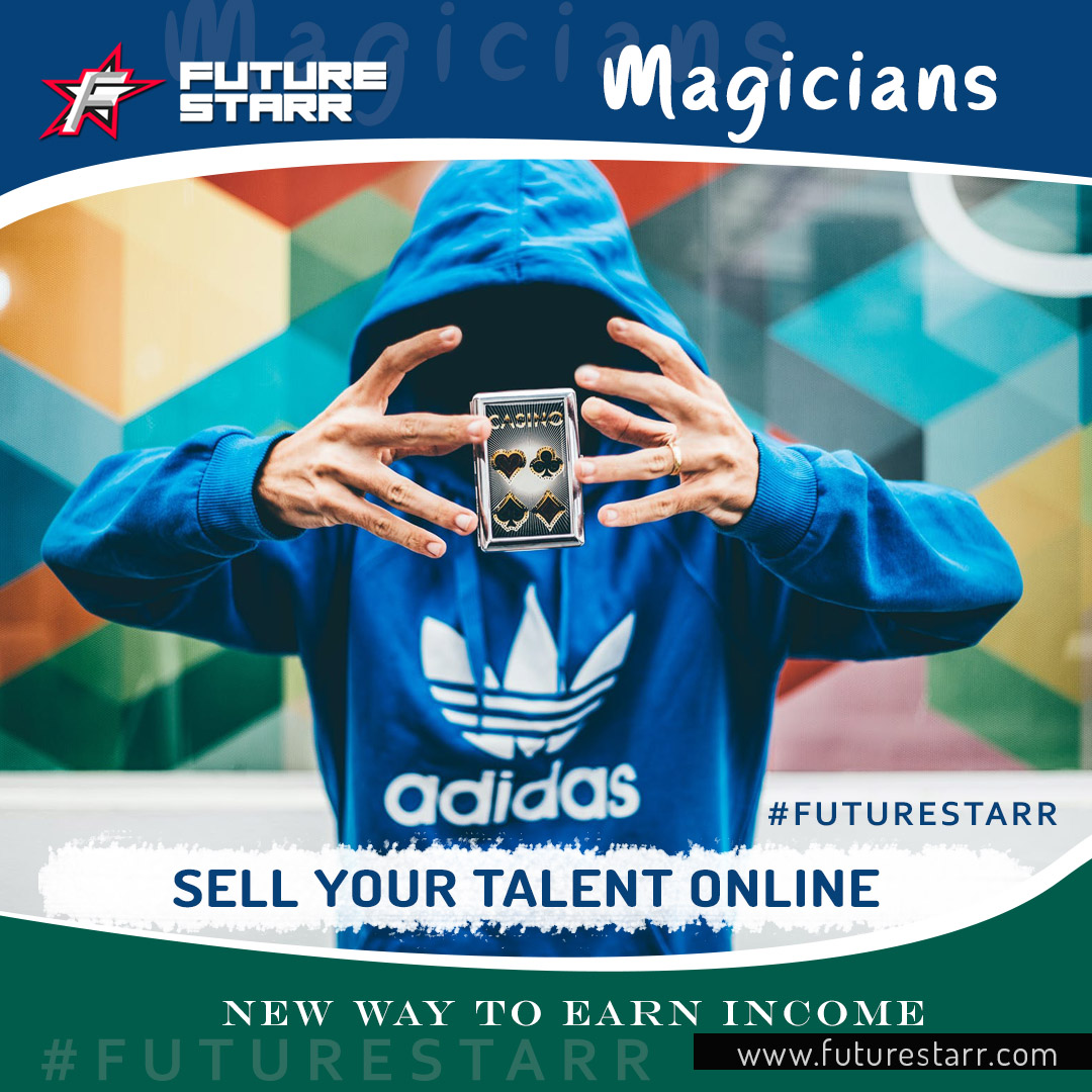 #Wolla! #Magicians #Entertainers: Turn your #tricks into #residualincome with FutureStarr! #Upload your #videocommercials | Put your #magical skills up for #sale... Google #FutureStarr Today!