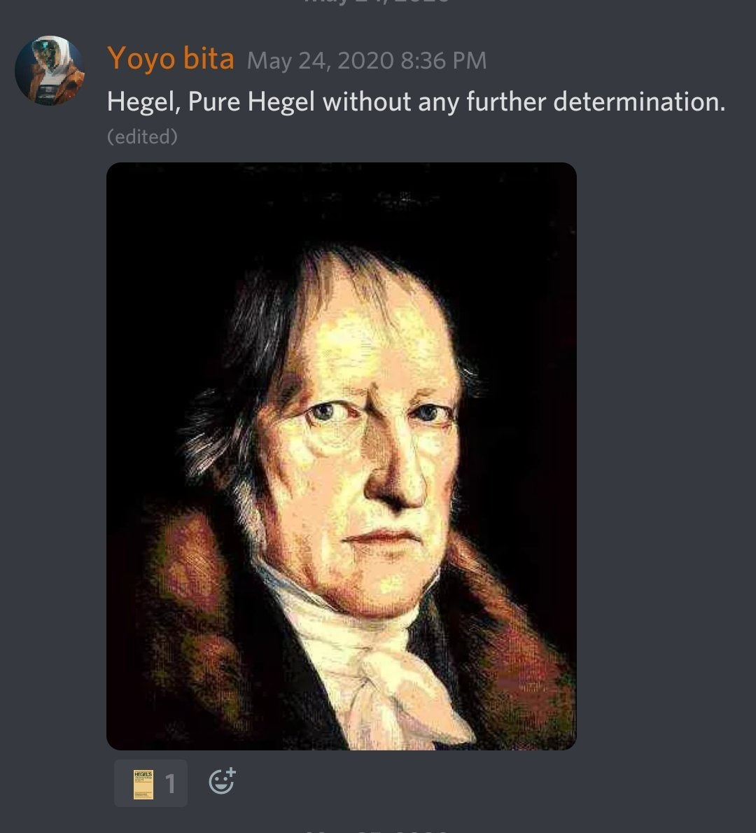 We all need a dose of Hegel in this perilous time. #Hegel #Absolute #spirit pic.twitter.com/9JX8UuzPpe