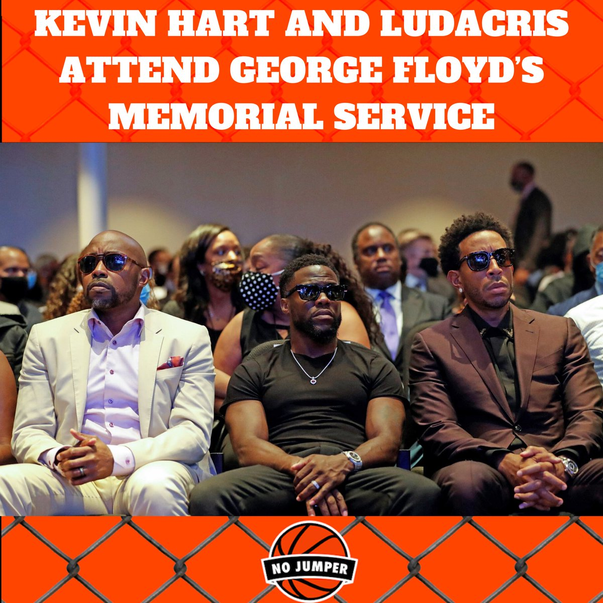 @KevinHart4real and @Ludacris attended George Floyd's memorial service in Minneapolis today.