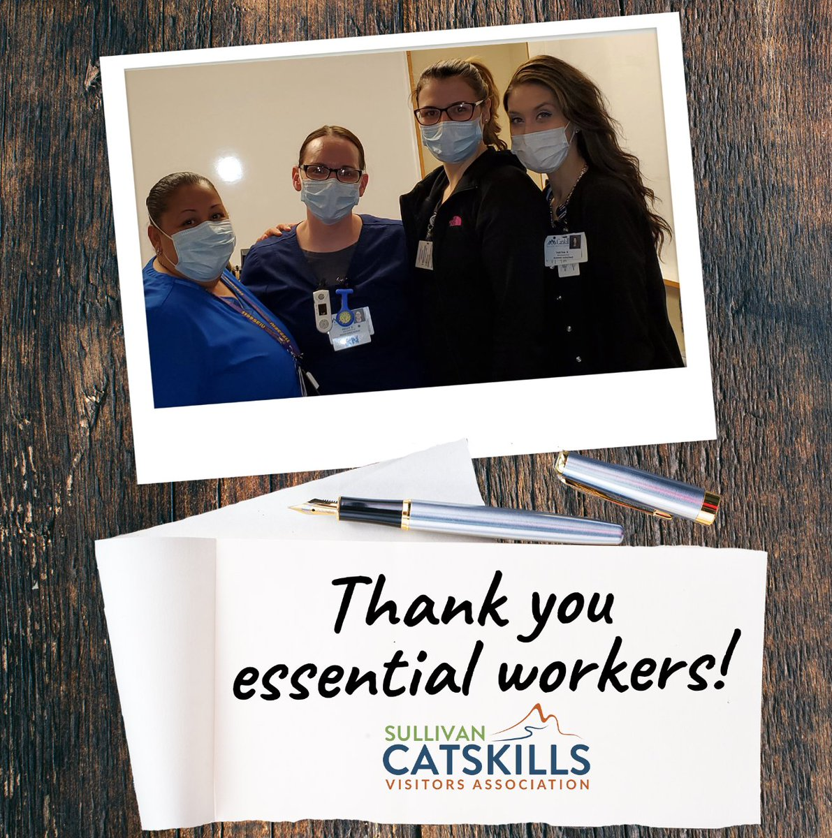 For all you do, we're so thankful to the team at the Catskill Regional Medical Center / CRMC. Thank you ladies #SullivanCatskills  #EssentialHeroes #ILoveNY pic.twitter.com/q1ieVX1FSq