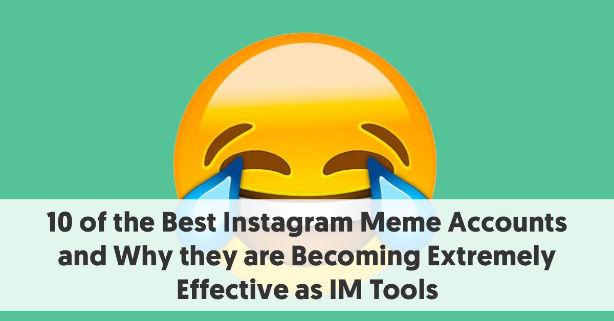 Like it or not, there is a reason your Instagram Feed is filled with #memes. Here are 10 of the most popular meme accounts around.  https://buff.ly/3aRl4lm #instagrammemes pic.twitter.com/GMNrcByYzo