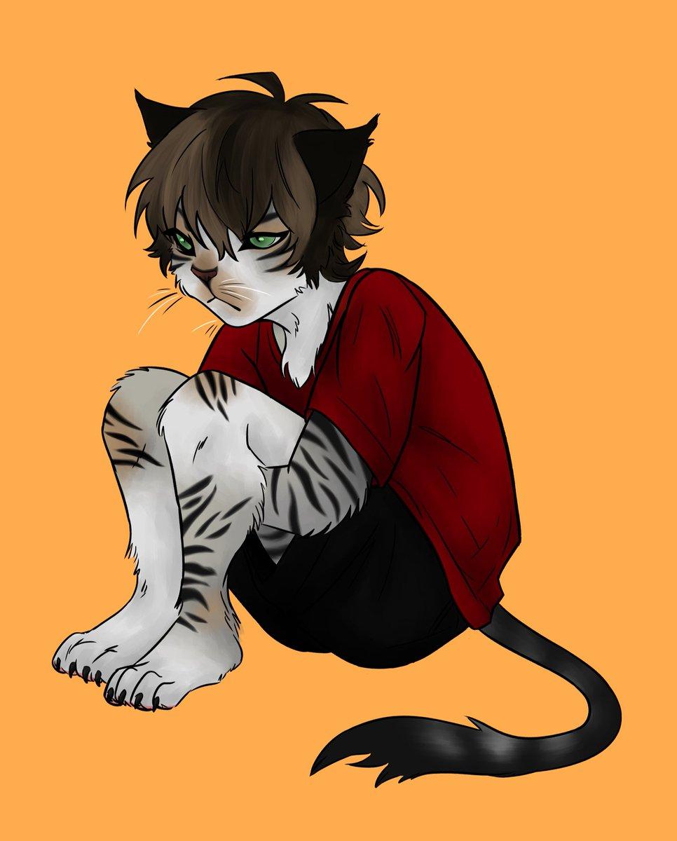 Here's my cat Oliver bye   #art #digitalart #pets pic.twitter.com/K5N94JHGAR