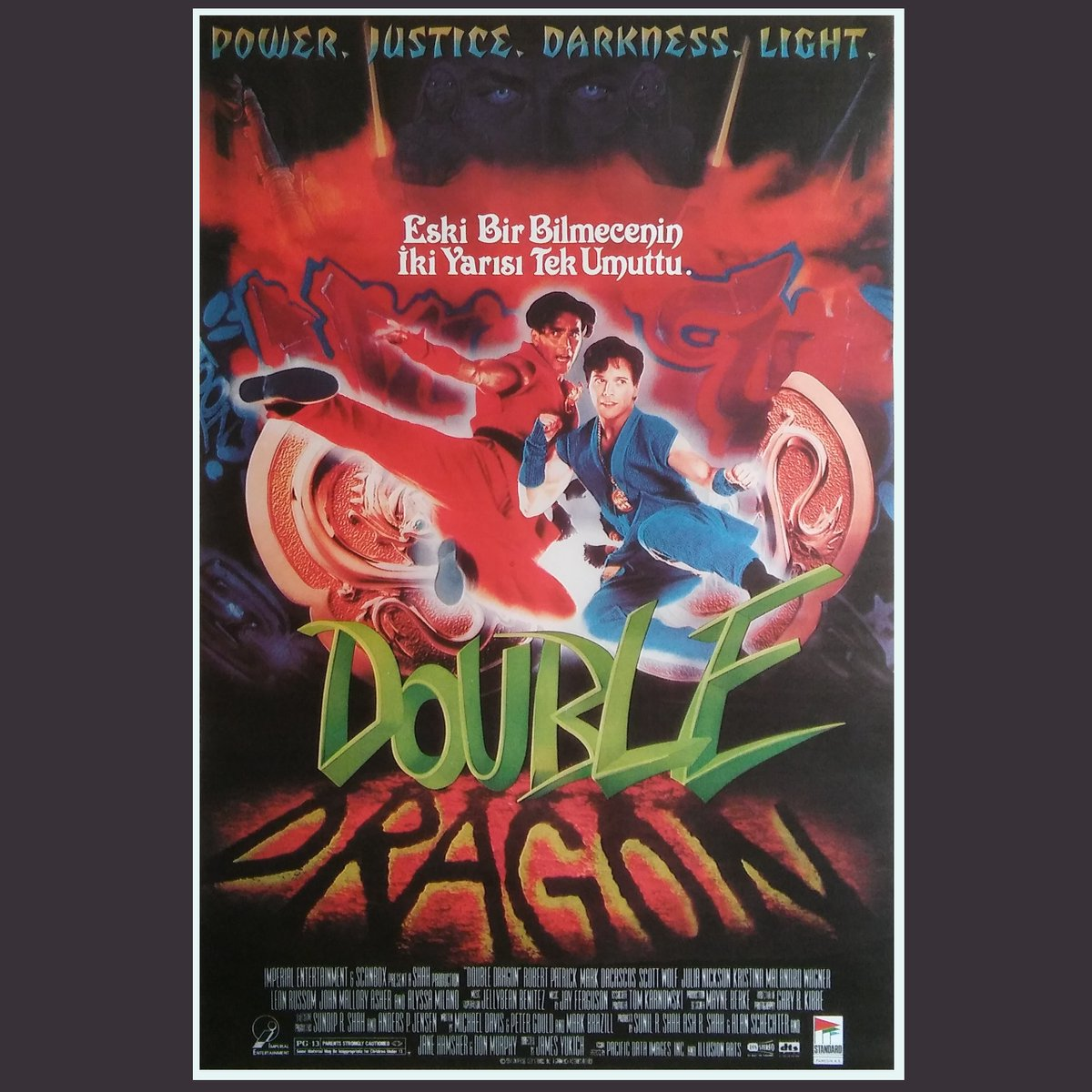 Turkish Movie Poster On Twitter Double Dragon 1994 Double Dragon