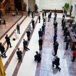 Image for the Tweet beginning: Senate Democrats stood together today
