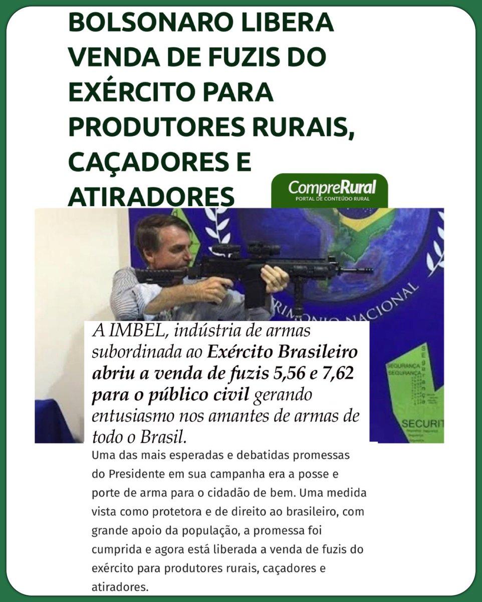 Boa motícia para os CACs (Colecionadores, Atiradores e Caçadores) 👏 @jairbolsonaro https://t.co/AIDMNH4qqY