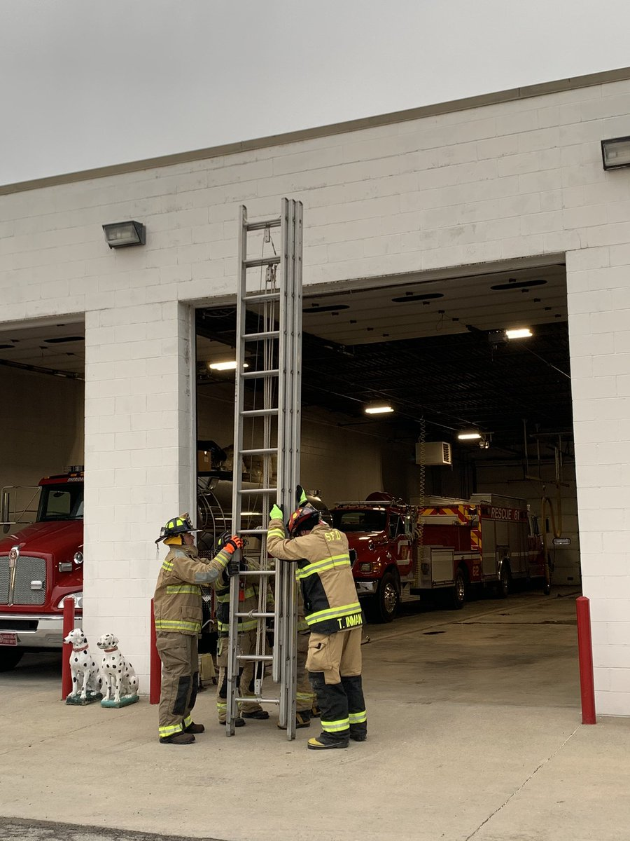 Sheridan Fire crews had our monthly business meeting this evening, followed by ladder training. Always good to brush up our skills, so we can be ready to serve the community safely and efficiently. #training