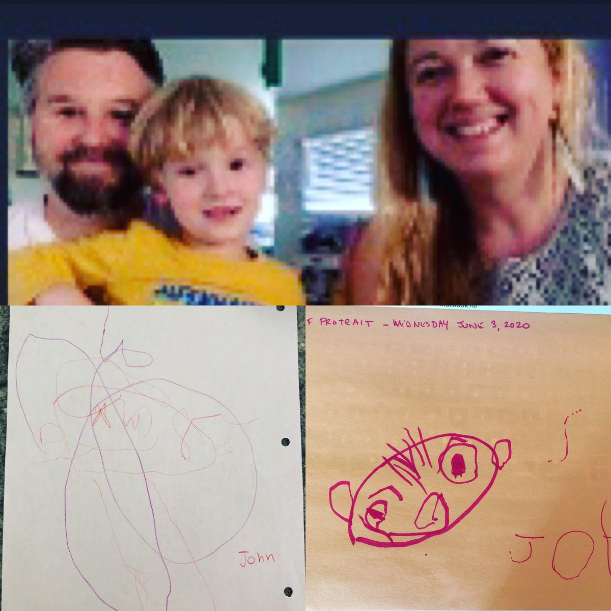 So thankful for our @PaloAltoUnified Preschool Family teachers & staff  Check out these two self portraits: One done in-class in September & the other at home, following the video instruction from our teachers.  If you water them with love, they will grow. #distancelearning pic.twitter.com/an3Oapxn2M