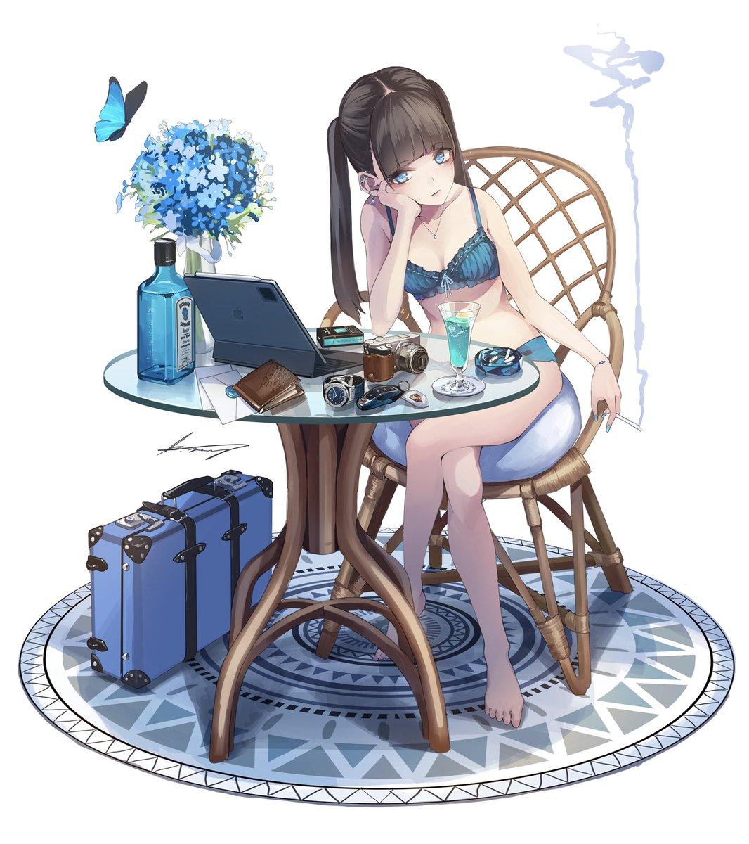 #これを見た人は青色の画像を貼れ 青色の季節だやった(ง ˘ω˘ )ว