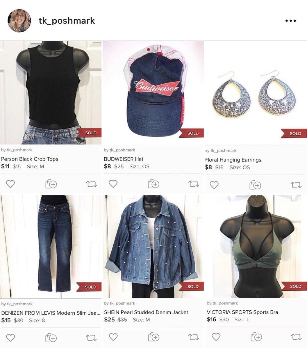 I made some sales today!!!!   #poshmark #poshmarkseller #reseller #croptop #hat #earrings #jeans #denimjacket #sportsbra #sale #offers #offertolikers #poshbundlepic.twitter.com/5ZHsH3YYKK