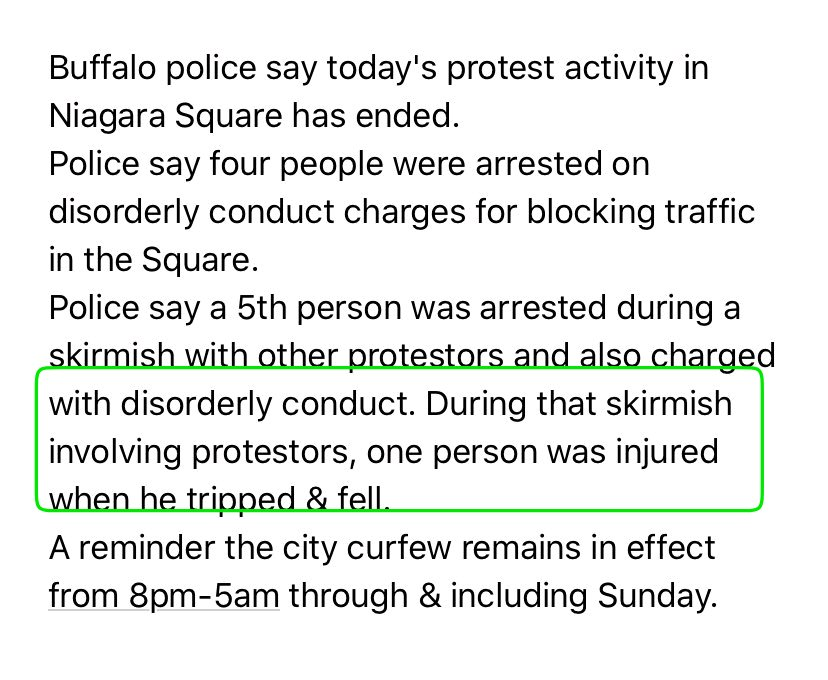 I wont share the video because its vile. But theres a video all over time my timeline of Buffalo police shoving an elderly man to the ground, afterwards the man appears to be bleeding from the head. Heres the statement the police released.