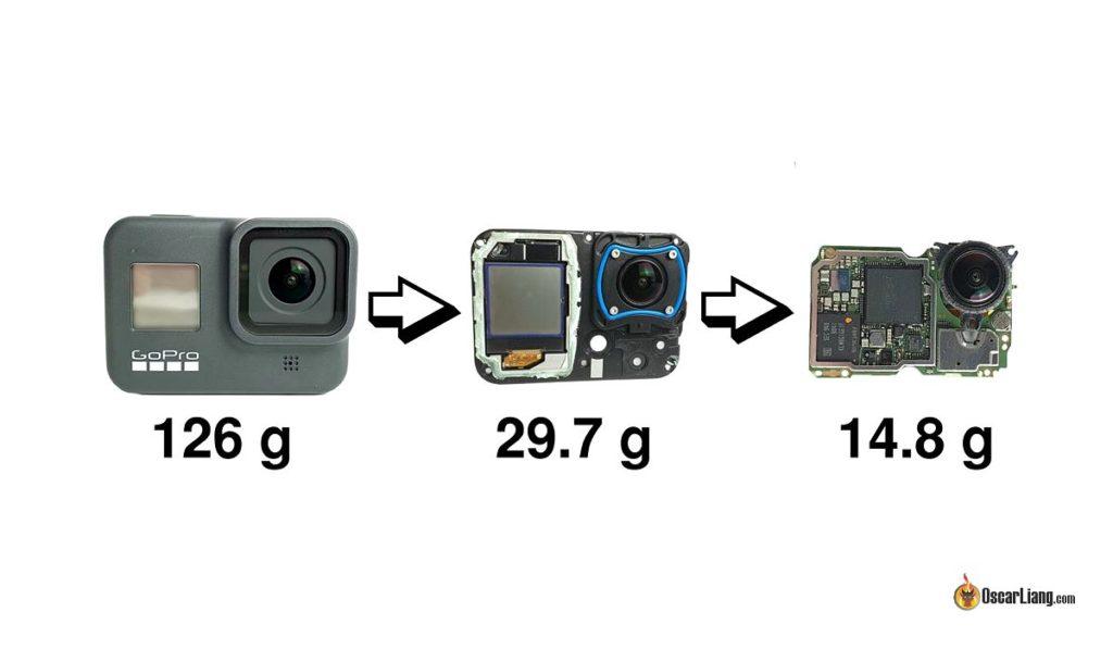ドローン愛好家には常識らしい「剥きプロ」というのを知った。(GoProを分解するとメチャクチャ軽くて高画質な神カメラになる)装甲とバッテリーを外せばこんなに小さいのか…
