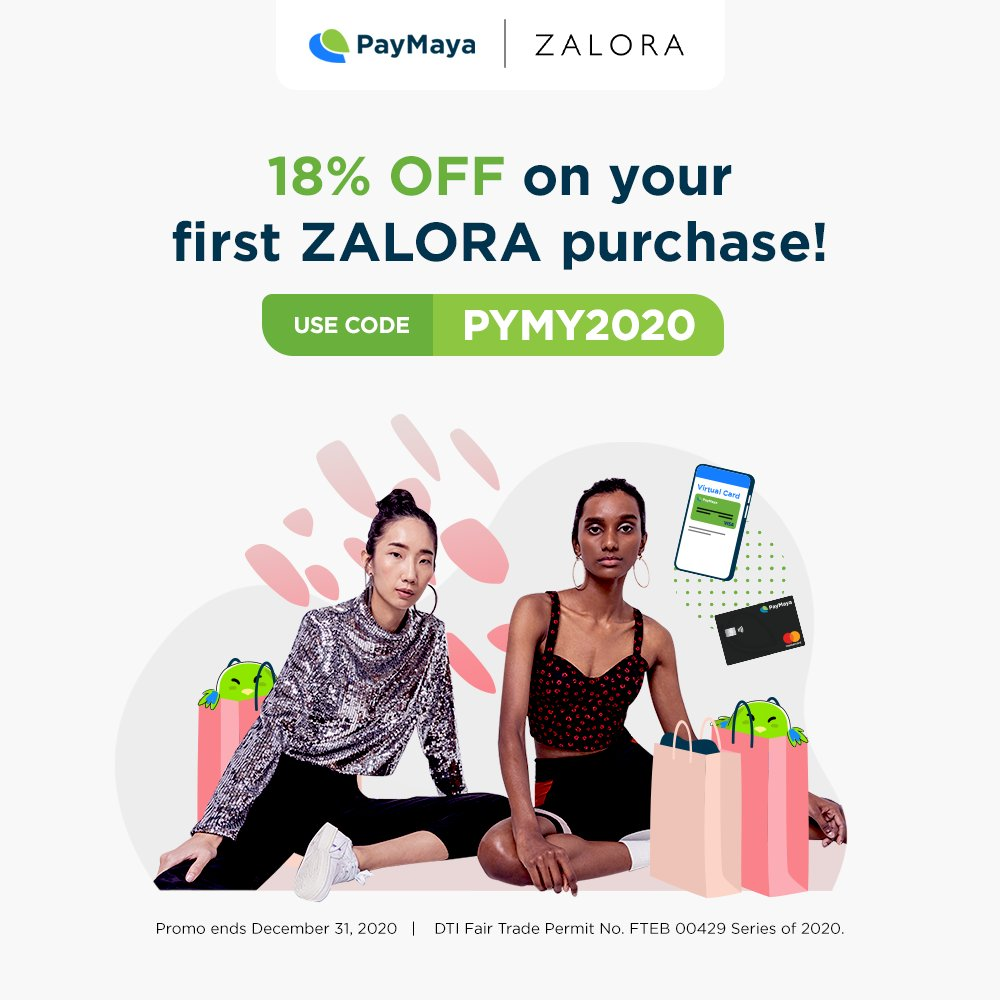 "Gear up for the ""new normal"" with stylish essentials from ZALORA!  Enjoy 18% OFF on your first purchase when you use your virtual or physical PayMaya card.   No minimum spend required. Learn more at https://t.co/r0M8EsJ6wD  Basta Zalora, don't pay cash. PayMaya! https://t.co/QIg0k5z5UD"