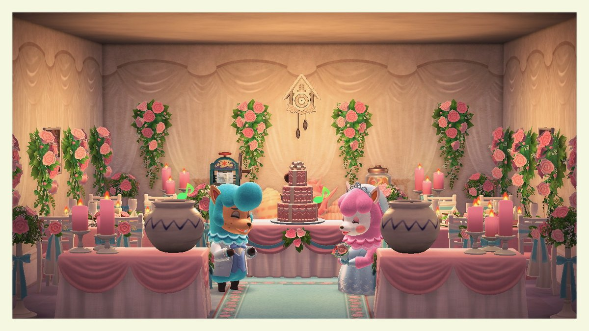 Quite a happy wedding cake reception... #AnimalCrossing #ACNH #NintendoSwitch