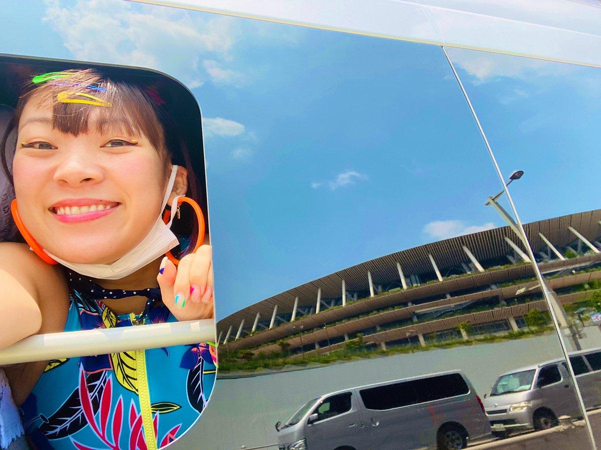 ロケバスに国立競技場写ってる!!!!!!!