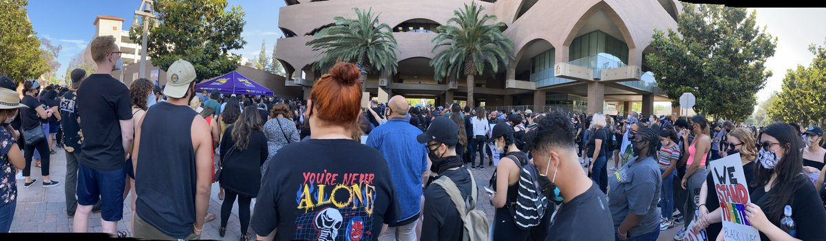 Moving vigil/protest in downtown Riverside this afternoon. @NAACP was there registering people to vote!!!! 👏🏼