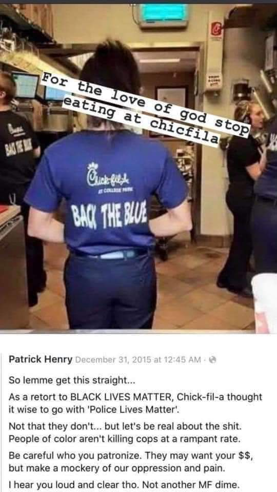So fuck Chick Fil A even more now