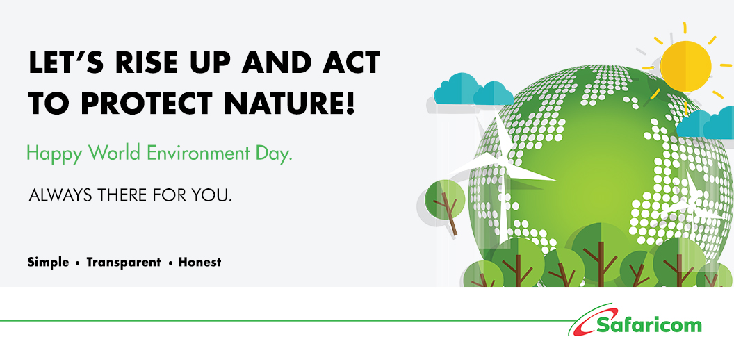 We need to join hands to protect the environment that is so generous in giving us life! What are you doing #ForNature? #WorldEnvironmentDay #ApartNotAlone #SafaricomForYou https://t.co/bJSj8pJI2n