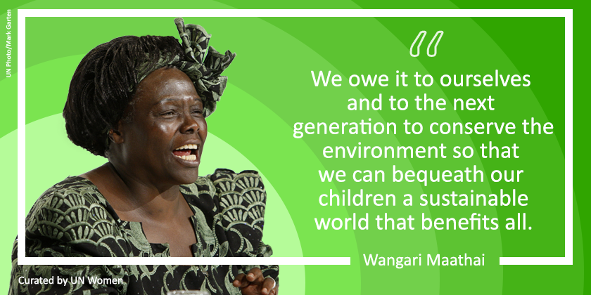 On #WorldEnvironmentDay, let's remember Wangari Maathai. An environmentalist, women's rights activist and the first African woman to win the Nobel Peace Prize. https://t.co/Wvl4Y5tu6e