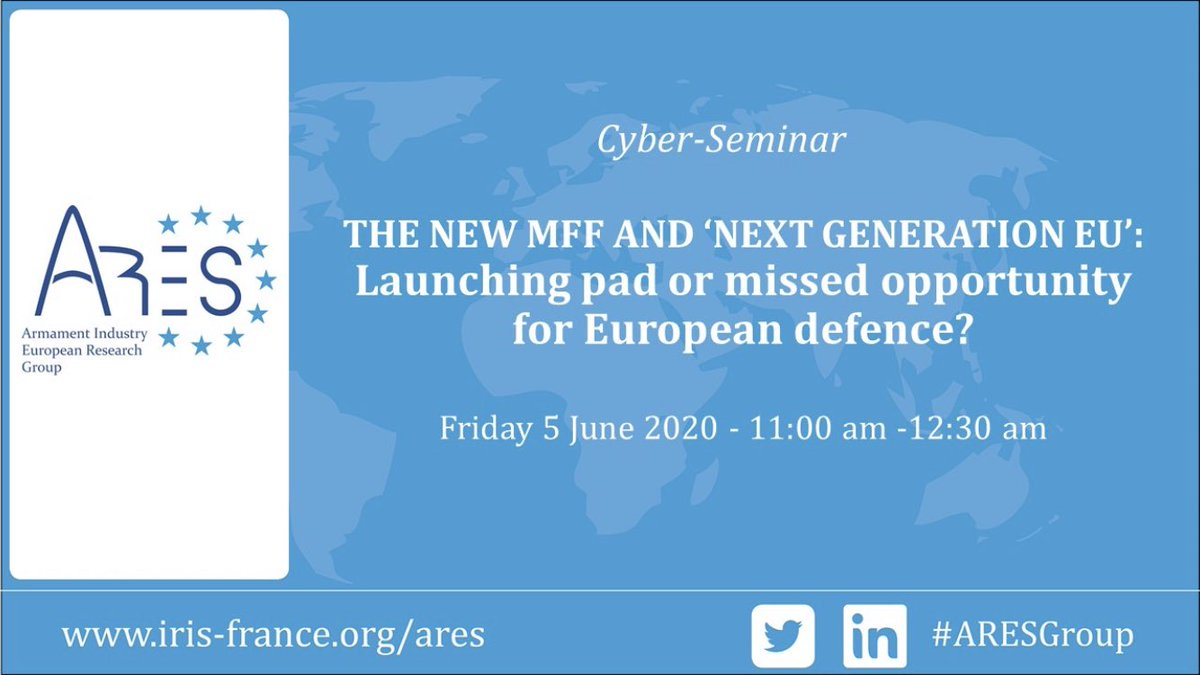 In advance of today's @AresGroup_EU cyber seminar on the #EUdefence and the #MFF, why not read this collective note on European defence, #COVIDー19 and the European Defence Fund.  https://t.co/5xsoAZjkcy https://t.co/uMWe1v8QFN