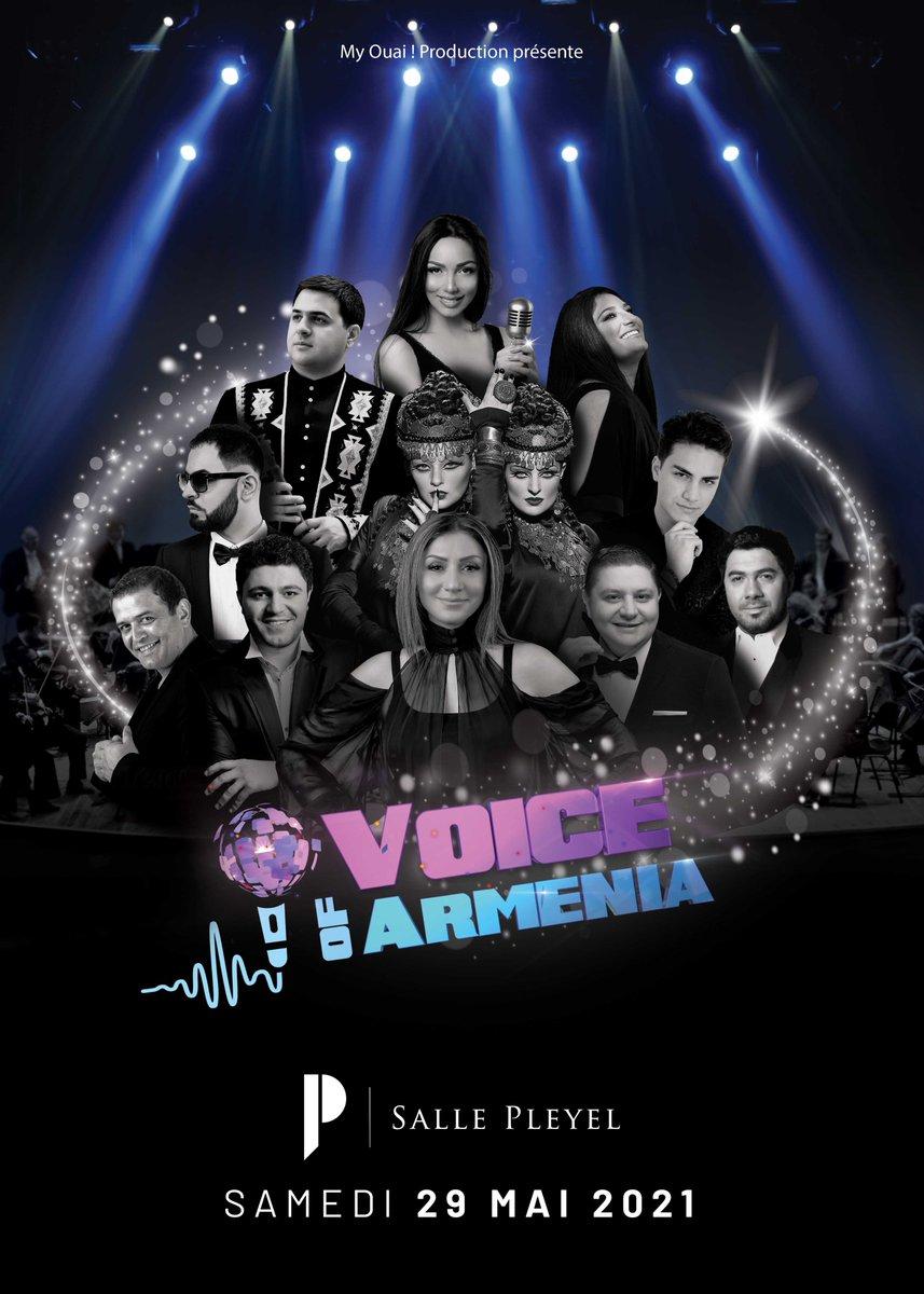 ➖VOICE OF ARMENIA➖ Compte tenu de la situation sanitaire actuelle, le concert Voice Of Armenia initialement prévu le 13 juin 2020 à la Salle Pleyel est reporté au samedi 29 mai 2021. https://t.co/w0gC