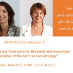 "Image for the Tweet beginning: 📢#FIT4FOOD2030's webinar: ""Transforming our food"